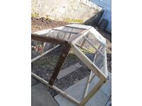LARGE FOLDABLE JOINER MADE RABBIT PET RUN PARTIALLY ROOFED