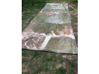 Large long tarpaulin 11.6m x 1.95m (only half of it shown on photo)