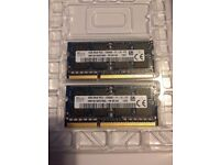 2x 4gb Apple Macbook late 2010 and 2011 Memory