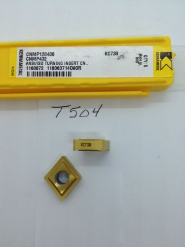 5 NEW KENNAMETAL CNMP 432 CARBIDE INSERTS. GRADE: KC730. {T504}