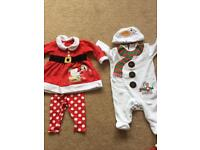 0-3 month CHRISTMAS baby girl bundle-great condition!