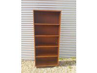 Vintage retro Danish teak wooden mid century teak book case shelves 60s 70s