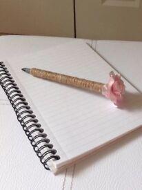 Flower pen - blush pink