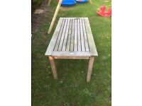 Barlow Tyrie genuine teak garden dining table
