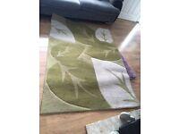 Large green rug
