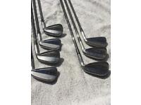 Adams Idea MB2 raw forged irons plus rare Approach wedge