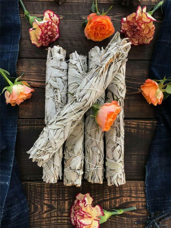 """SET OF 5 White Sage Smudge Stick 9"""" Jumbo (House Cleansing Energy Clearing)"""