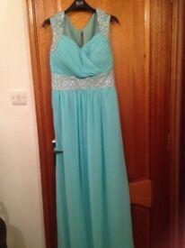 Aqua long dress