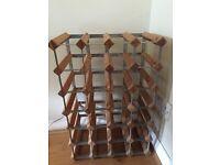 For sale Wine rack for 28 bottles, pine