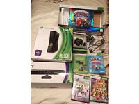 Xbox 360 Console 250GB Kinect, games & 2 controllers