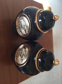 Pair of Decorative Japanese Jars