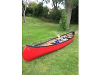 *SOLD* * Old Town Charles River Canadian Canoe Red Light Weight Royalex Construction