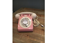 Replica Vintage 1960's Pink and Cream Telephone Style 706