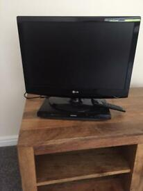 LG tv with DVD player and remote