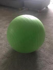 Fitness birthing ball complete with pump