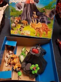 Playmobil dinosaur volcano