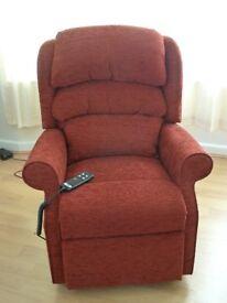 Reclining Arm Chair : HSL Waltham Petite Riser / Recliner - as new