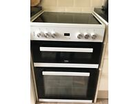 Electric Cooker bought Feb 2018 full guarantee ceramic hob only used a few times brand new