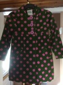 Girls mini boden spotted velvet coat