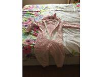 Girls pink cat onesie