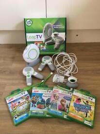 Leap TV with box, 2 controllers and 4 games