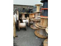 Cable drums for up cycle various sizes , can deliver locally good wooden drums