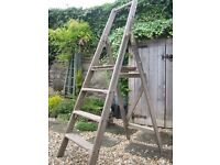 Vintage wooden step ladders from the 1950's. Heavy and sturdy. Great for display or general use.