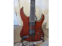 SCHECTER BANSHEE ELITE IN CAT'S EYE PEARL-EXCELLENT CONDITION