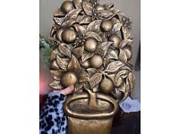 Vintage wooden carved Gold tree £5 Available !