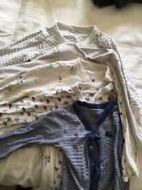 5 M&S sleepsuits age 2-3 years