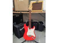 Fender Squier Stratocaster in Fiesta Red