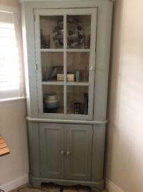 Pine Corner unit with shelves & doors