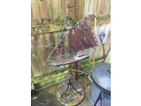 Large Vintage Boat Weather Vane – Used In Condition Size H139cm W87.5cm Cost c£850 Bargain £297 ono