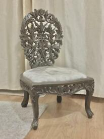2 Victorian style Luxury Hand Made Wooden Chairs