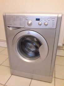Silver Indesit Washing Machine