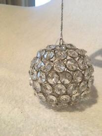 Plastic diamanté bauble