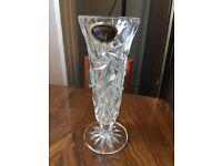Brand new crystal vase