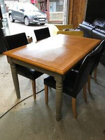 Harvey's dining table and chairs