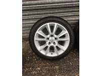 Vauxhall zafira 5 stud alloy wheels , 4 good tyres ! (Vectra,omega,meriva,Corsa,signum)