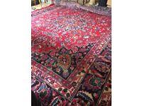 Large Vintage Persian Wool Rug 3x4m