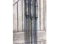 3 Sonik gravity x carp rods