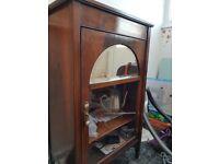 Victorian dresser with mirror and glazed door