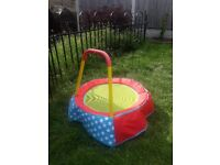 Childrens Toddlers Mini Trampoline, Great Condition, Indoor or Outdoor