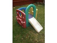 Children's climb and slide
