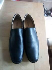 Black mens smart dress shoes leather size 12