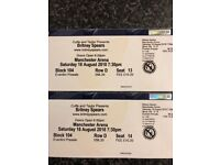 2 x Britney Spears Tickets Manchester Arena 18th Aug
