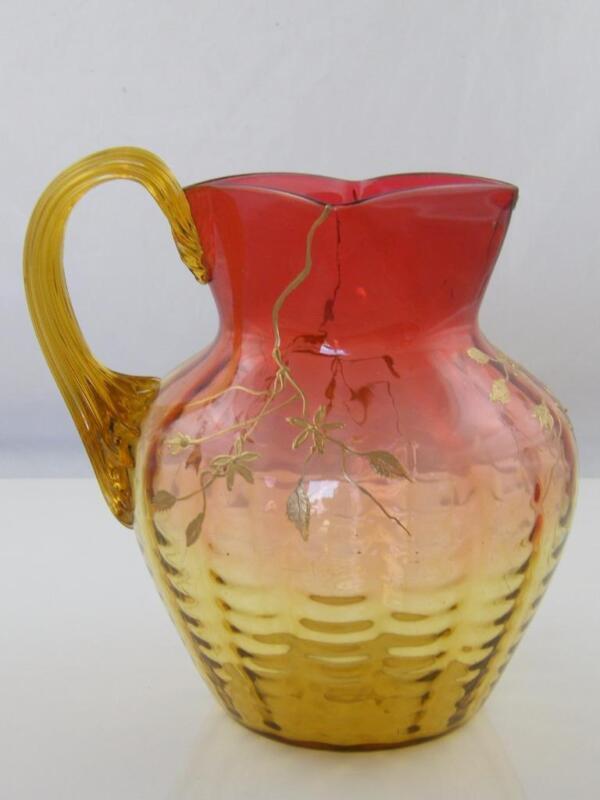 19TH CENTURY AMBERINA GLASS JUG