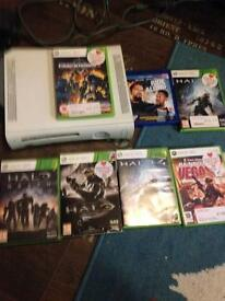 Xbox 360 with a few games