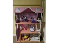 ELC dolls house with furniture role play
