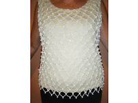 Ladies Vintage beaded evening top size 12
